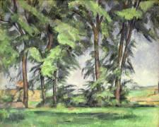 Grands Arbres au Jas de Bouffan, 1883 (Paul Cézanne) - Muzeo.com