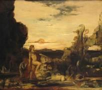 Hercule et l'Hydre de Lerne (Moreau Gustave) - Muzeo.com
