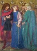 Horatio découvrant la folie de Ophélie (Hamlet) (Dante Gabriel Rossetti) - Muzeo.com