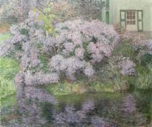 Hortensias sur les rivers de la Lys (Emile Claus) - Muzeo.com