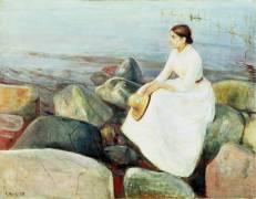 Inger sur la plage (Munch Edvard) - Muzeo.com