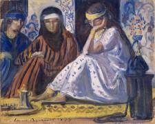 Intérieur arabe ; Harem (Emile Bernard) - Muzeo.com