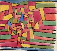 Jardin longeant un ruisseau (Paul Klee) - Muzeo.com