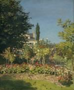 Jardins en fleurs (Claude Monet) - Muzeo.com