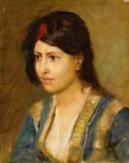 Jeune femme en veste turque (Léon Belly) - Muzeo.com