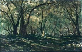 Jeune fille sous les oliviers - Menton (Henry Brokman) - Muzeo.com