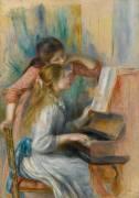 Jeunes filles au piano (Renoir Auguste) - Muzeo.com
