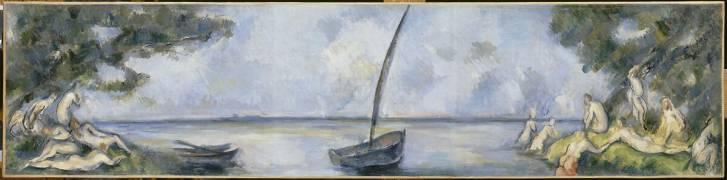 La barque et les baigneurs (Paul Cézanne) - Muzeo.com