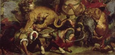 La Chasse aux lions (Delacroix Eugène) - Muzeo.com