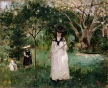 La Chasse aux papillons (Morisot Berthe) - Muzeo.com