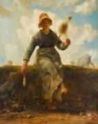 La Fileuse, chevrière auvergnate (Jean-François Millet) - Muzeo.com