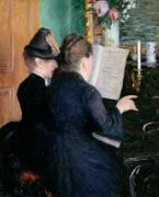 La Leçon de Piano (Gustave Caillebotte) - Muzeo.com