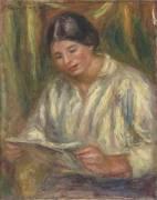 La liseuse blanche (Renoir Auguste) - Muzeo.com