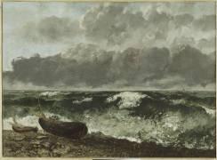 La mer orageuse, dit aussi La vague (Courbet Gustave) - Muzeo.com