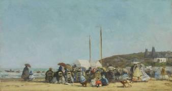 La plage de Trouville (Eugène Boudin) - Muzeo.com