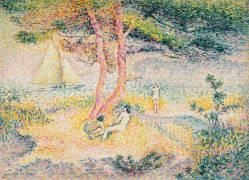 La plage à Saint Clair (Henri-Edmond Cross) - Muzeo.com
