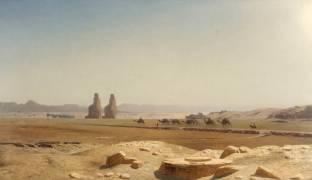 La Plaine de Thèbes (Haute-Egypte) (Gerôme Jean Léon) - Muzeo.com