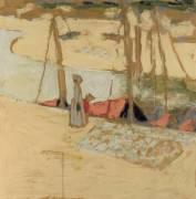 La promenade dans le port, le Pouliguen (Vuillard Edouard) - Muzeo.com
