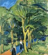 La Rue à la Forêt (Ernst Ludwig Kirchner) - Muzeo.com