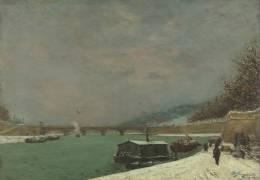 La Seine au pont d'Iéna. Temps de neige (Paul Gauguin) - Muzeo.com