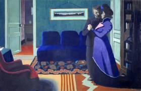 La visite (Vallotton Félix) - Muzeo.com