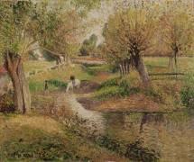 L'Abreuvoir, Eragny (Camille Pissarro) - Muzeo.com