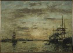 Le bassin de l'Eure au Havre (Boudin Louis-Eugène) - Muzeo.com