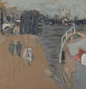 Le cargo à quai, Hambourg (Edouard Vuillard) - Muzeo.com