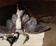 Le héron mort aux ailes déployées (Sisley Alfred) - Muzeo.com