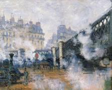 Le Pont de l'Europe, Gare Saint-lazare (Monet Claude) - Muzeo.com