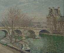 Le Pont Royal et le pavillon de Flore (Camille Pissarro) - Muzeo.com