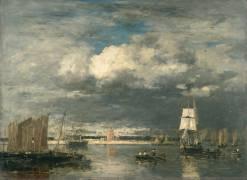 Le port de Camaret par ciel d'orage (Boudin Louis-Eugène) - Muzeo.com