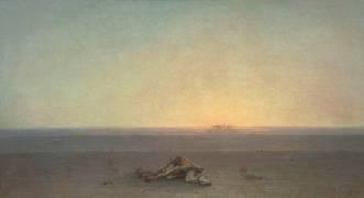 Le Sahara, Autre titre : Le désert (Guillaumet Gustave Achille) - Muzeo.com