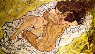 L'étreinte (Egon Schiele) - Muzeo.com