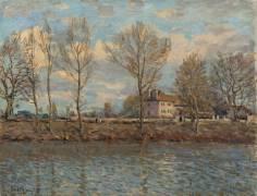 L'Île de la Grande Jatte, Neuilly sur Seine (Alfred Sisley) - Muzeo.com