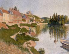 Les Andelys, la berge (Paul Signac) - Muzeo.com