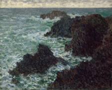 Les rochers de Belle-Île, la côte sauvage (Monet Claude) - Muzeo.com