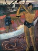 L'homme a la hache (Paul Gauguin) - Muzeo.com