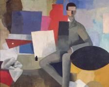 L'homme assis ou L'architecte (Roger de La Fresnaye) - Muzeo.com