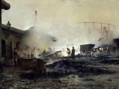 L'usine à gaz de Courcelles (Ernest Jean Delahaye) - Muzeo.com