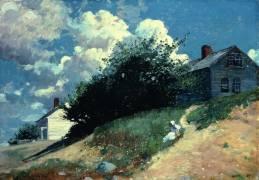 Maisons sur une colline (Winslow Homer) - Muzeo.com