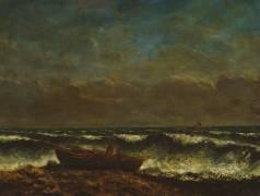 Mer orageuse ou la vague (Courbet Gustave) - Muzeo.com