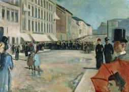 Musique dans la rue Karl Johan (Munch Edvard) - Muzeo.com