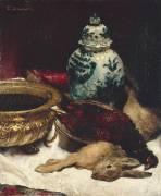 Nature morte au lapin mort (Léon Bonnat) - Muzeo.com