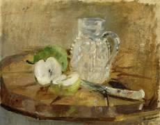 Nature Morte avec Pomme coupée et un Pichet (Berthe Morisot) - Muzeo.com