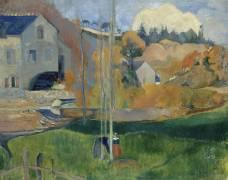 Paysage de Bretagne - le moulin David (Paul Gauguin) - Muzeo.com