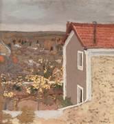 Paysage à l'Etang-la-Ville (Yvelines ) (Edouard Vuillard) - Muzeo.com