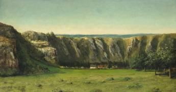 Paysage rocheux aux environs de Flagey (Courbet Gustave) - Muzeo.com