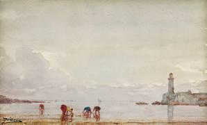 Pêcheurs de coquillages à Antibes (Félix Ziem) - Muzeo.com