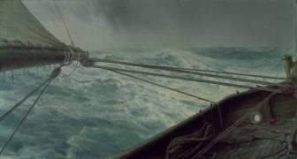 Poupe de l'Alda; mer démontée (vent et vagues) (Henry Brokman) - Muzeo.com